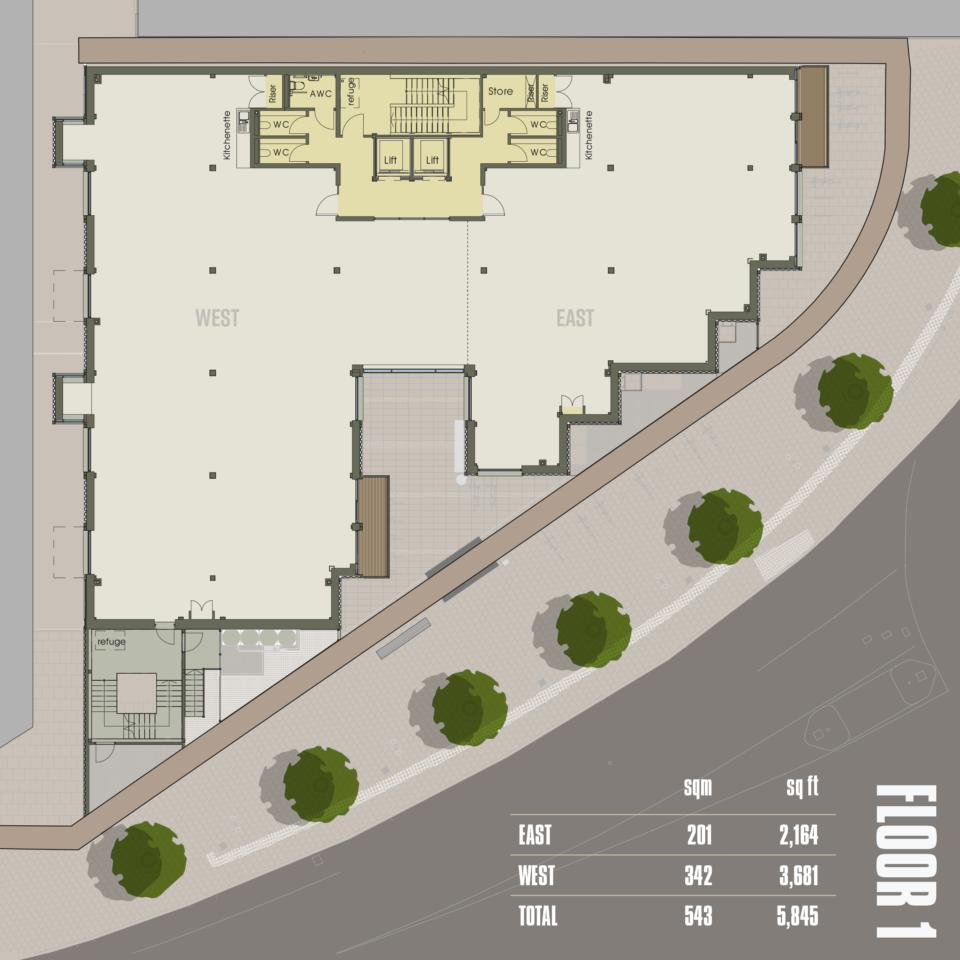 CARGO Work Floor 1 plan