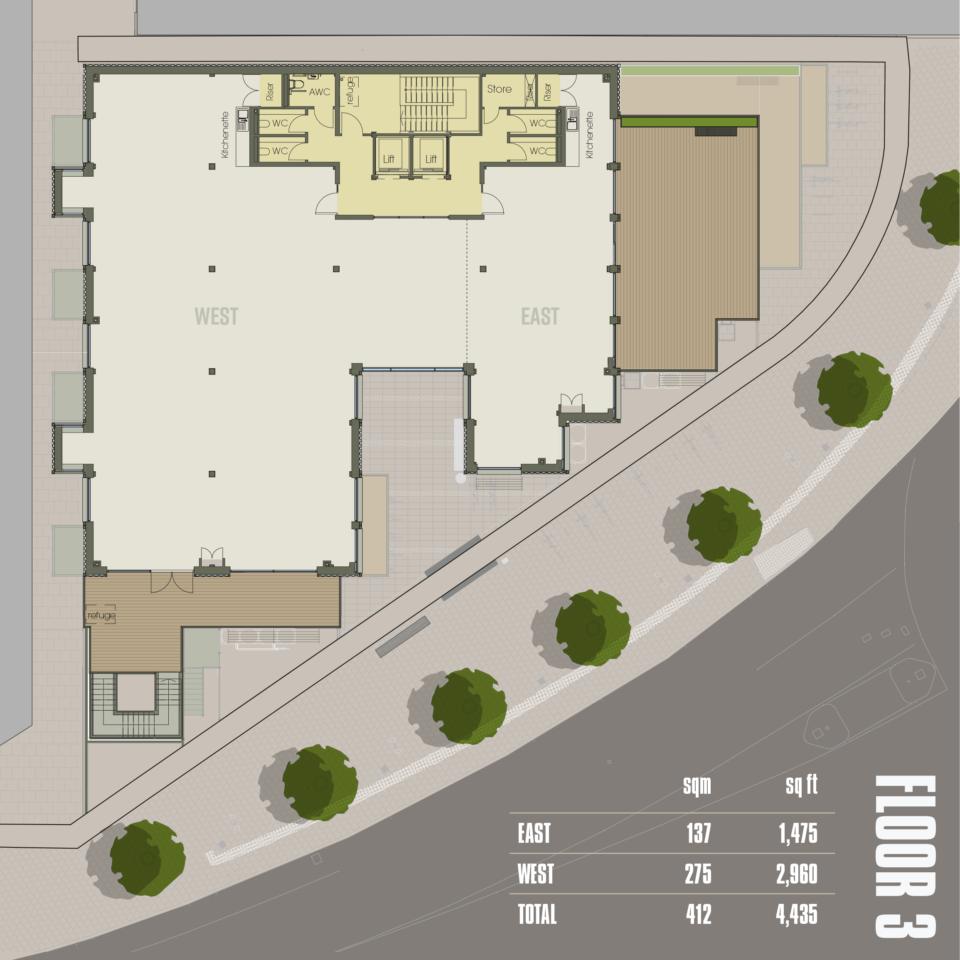 CARGO Work Floor 3 plan